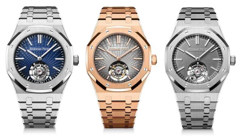 Replika Uhren Audemars Piguet Royal Oak Automatisches Fliegen Tourbillon 18 Karat Rotgold 1